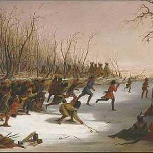 древний хоккей на льду