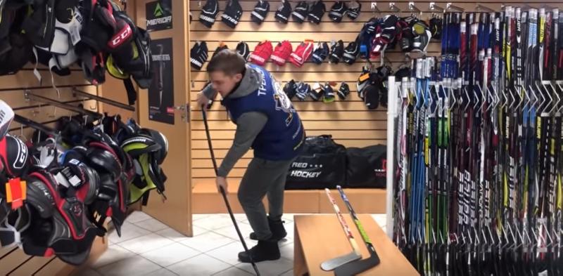 выбрать и купить хоккейную клюшку